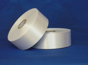 High quality double sided barcode polyester satin ribbon