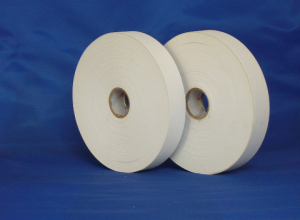 Economical polyester satin ribbon for care label materials