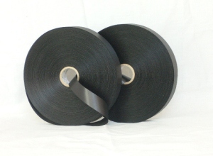 High quality double sided black polyester satin tape