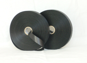 High quality black single side polyester satin ribbon